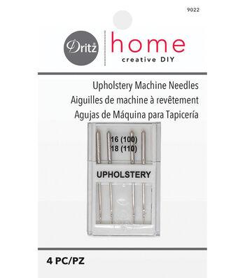 Dritz Upholstery Machine Needles 4pcs Sizes 16/100, 18/110
