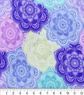 Anti-Pill Fleece Fabric 59\u0022-Bollywood Mandala Periwinkle