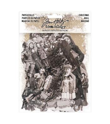 Tim Holtz Idea-ology Paperie Paper Dolls-Vintage Christmas