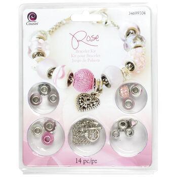 Large Hole Bracelet Kit-Rose 14pcs