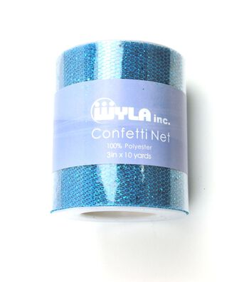 Wyla® Confetti Net Spool 3''x10 yds