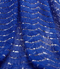 SUEDEsays Fabric- Tulle Scallop Emb Sequin Dazz Blue