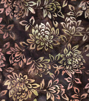 "Legacy Studio™ Indonesian Batiks Cotton Fabric 43""-Light Brown Floral, , hi-res"