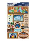 Reminisce Signature Dimensional Stickers Summer Camp