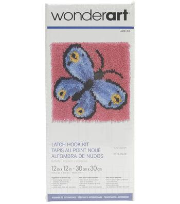 """Wonderart Latch Hook Kit 12""""X12""""-Butterfly"""
