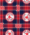 Boston Red Sox Fleece Fabric 58\u0027\u0027-Plaid