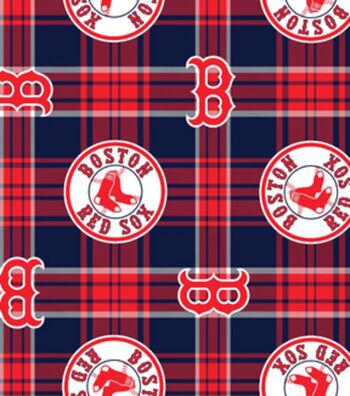 Boston Red Sox Plaid Flc