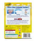 Crayola Washable Broad Line Markers 8/Pkg-Bright Colors