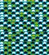 Quilter\u0027s Showcase™ Fabric 43\u0027\u0027-Black Half Circle on Capri Breeze