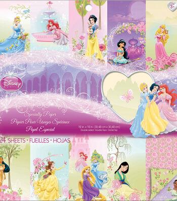 "Disney® Princess Specialty Paper Pad 12""X12"" 24 Sheets-"