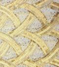 Casa Embellish Spring Crossweave Sequin Fabric 49\u0022-Gold