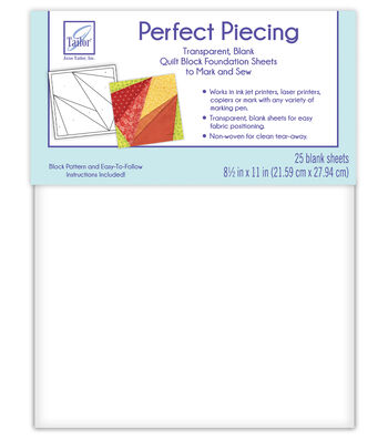 June Tailor Perfect Piecing Quilt Block Foundation Sheets