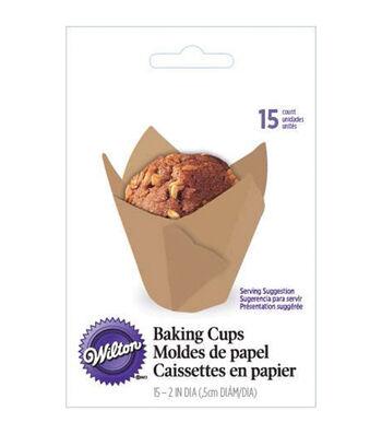 Wilton® Parchment Baking Cups 15/Pkg-Kraft
