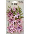 49 And Market Vintage Shades Cluster 13 pk Flowers-Orchid