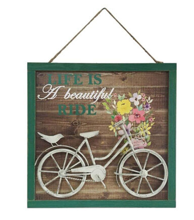 Hello Spring 3D Wall Decor Life Is A Beautiful Ride U0026 Bicycle