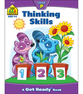School Zone Preschool Workbooks 32 Pages-Thinking Skills
