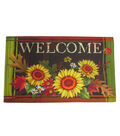 Fall Into Color Rubber Door Mat-Sunflower & Welcome