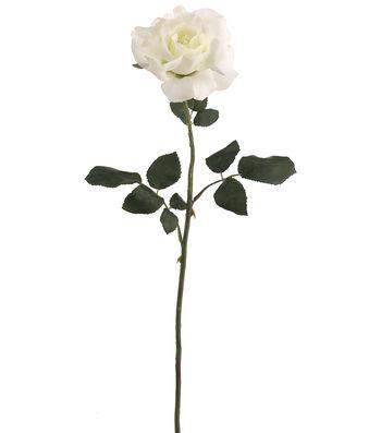 "Bloom Room 26"" American Beauty Rose Stem-White"