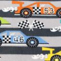 Anti-Pill Fleece Fabric- Race Cars