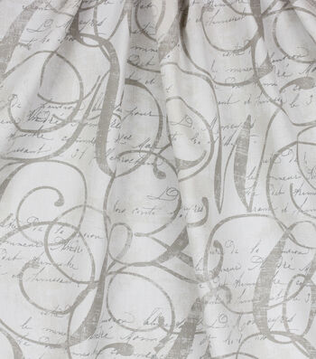 Home Essentials™ Print Fabric 45''-Natural Calligraphy