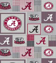 "University of Alabama Crimson Tide Fleece Fabric 58""-Gray Block, , hi-res"