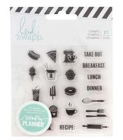 Heidi Swapp® Fresh Start Clear Stamps-Food, , hi-res