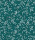 Quilter\u0027s Showcase™ Cotton Fabric 44\u0022-Deep Lake Gray Floral Vines