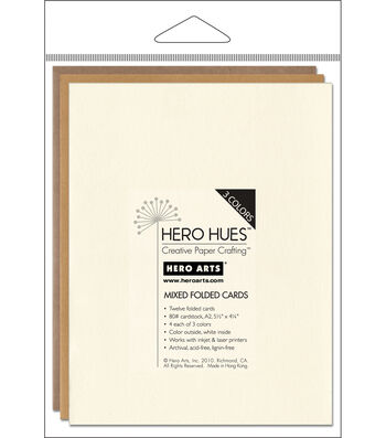"""Hero Arts 5-1/2""""x4-1/4"""" Folded Cards-12PK/Earth Mix"""