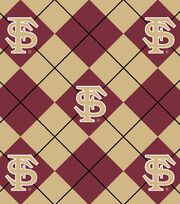 "Florida State University Seminoles Fleece Fabric 58""-Argyle, , hi-res"