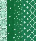Fat Quarter Bundle Cotton Fabric 5 Pack 18\u0027\u0027-Assorted Patterns On Green