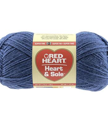 Blue-yarn Heart & Sole