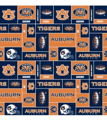 "Auburn University Tigers Fleece Fabric 58""-Block"