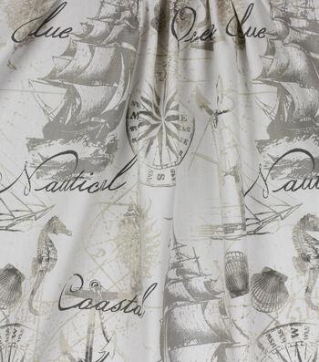 Home Essentials™ Print Fabric 45''-Natural Sailsea