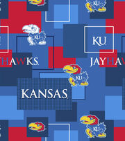 University of Kansas Jayhawks Cotton Fabric 43''-Modern Block, , hi-res