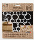 FolkArt® Painting Stencils - Small - Pebble Background
