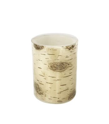 Fall Into Color 3''x4'' LED Pillar Candle-Birch