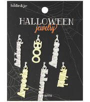 hildie & jo™ Halloween 6 Pack Scary Words Charms, , hi-res