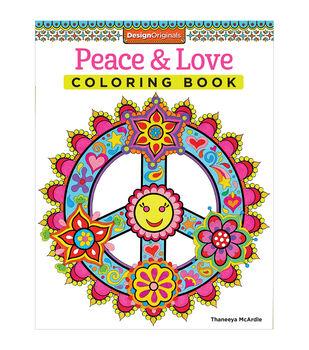 Design Originals Peace Love Coloring Book