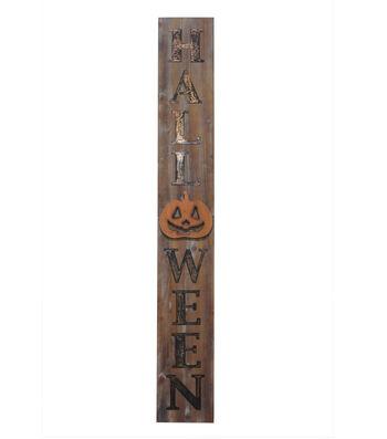 Maker's Halloween Wood Porch Sign-Halloween on Natural