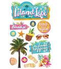 Paper House 4.5\u0027\u0027x8.5\u0027\u0027 3D Stickers-Island Life