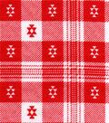 Snuggle Flannel Fabric 42\u0022-Aztec Plaid Red