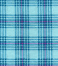 Snuggle Flannel Fabric 42\u0022-Hadley Plaid Teal