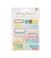 American Crafts 48 Pack Memory Planner Stickers-Label, , hi-res