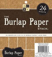 """DCWV 6""""x6"""" Burlap Paper Stack, , hi-res"""