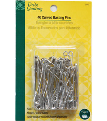 Dritz Quilting Curved Basting Pin Size 3