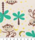 Blizzard Fleece Fabric-Monkeys And Bananas