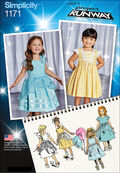 Simplicity Pattern 1171AA 1/2-1-2-3 -Toddlers