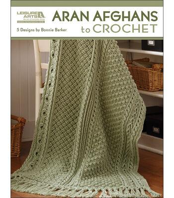 Leisure Arts Aran Afghans To Crochet