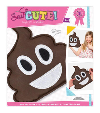 Sew Cute! Felt Pillow Kit-Emoji Pile Of Poo