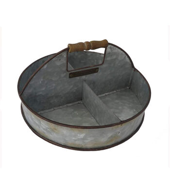 Bloom Room Round 4 Section Galvanized Metal Container